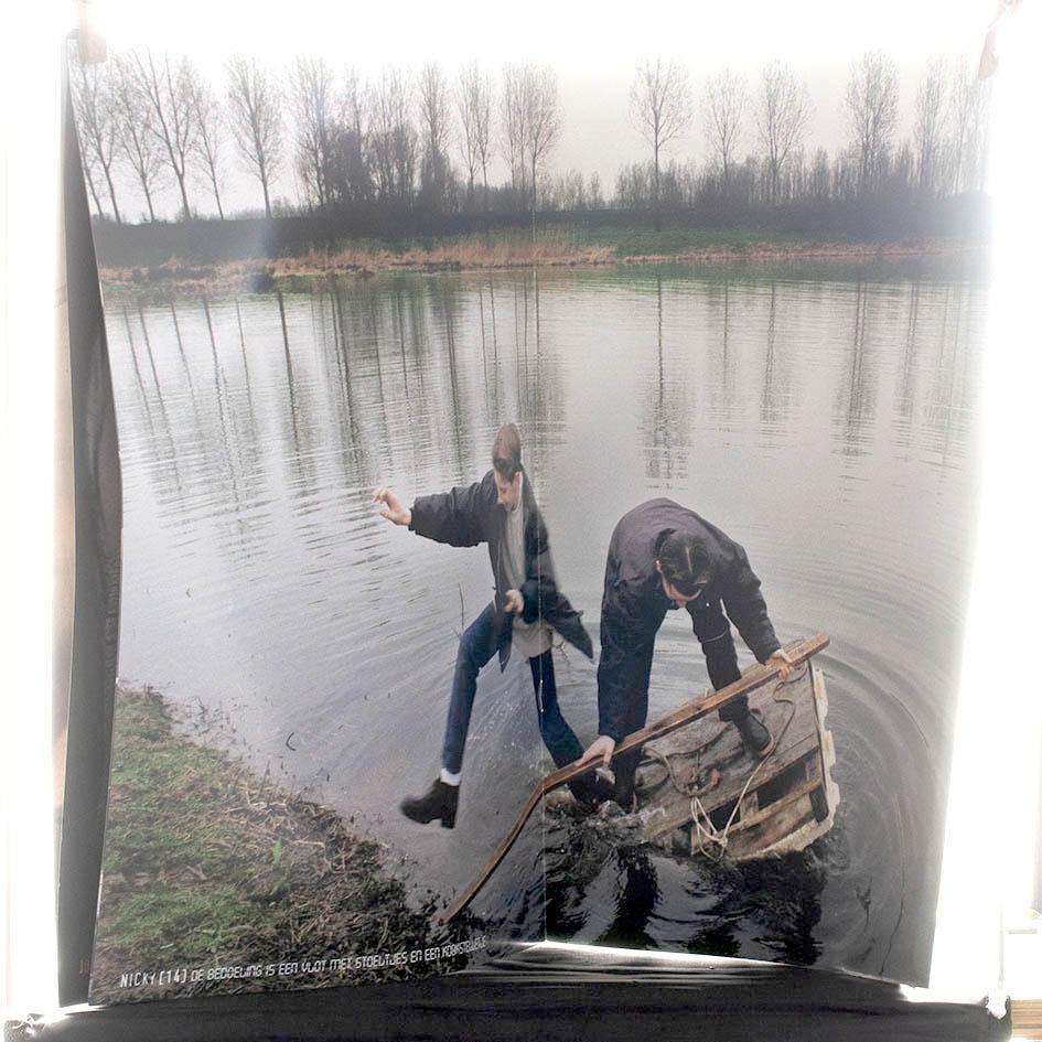 VRPBLCT SLS #1 - Nick 14 'De bedoeling is een vlot met stoeltjes en een kookstelletje' / 'The intention is a raft with chairs and a stove'